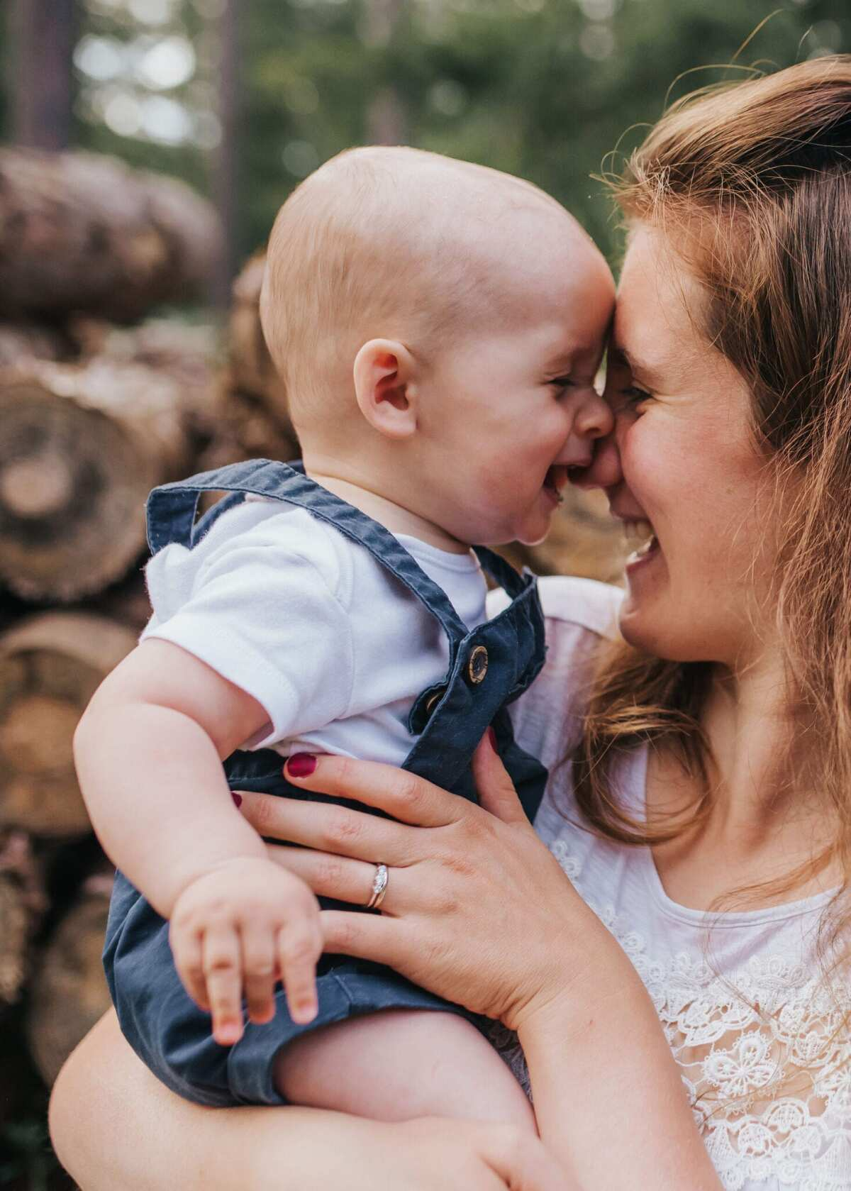 Mum and baby at a family photoshoot